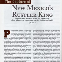 Capture of New Mexico's Rustler King John Kinney in Wild West magazine